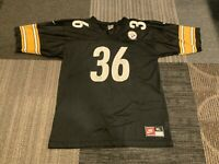 Vintage Pittsburgh Steelers Nike Jerome Bettis #36 Mens XL Black Jersey