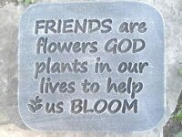 """Friends mold concrete plaster stepping stone mould 11"""" x 10"""" x 1.20"""" Thick"""
