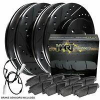 Fits 2011-2013 Chevrolet Cruze Front Rear HartBrakes Drill Slot Brake Rotors