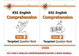 KS1 YEAR 2 ENGLISH TARGETED COMPREHENSION 2 BOOK BUNDLE FOR AGES 6-7
