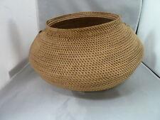 "Native American Weave Large Basket Bowl. Nice Design. Approx. 14.5"" Diameter"