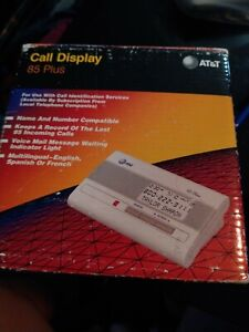BRAND NEW AT&T 85 Plus Caller ID Display 85 Call Log  Multilingual ENG-SPAN-FREN