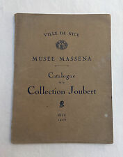 Livret Catalogue Collection Joubert Ville de Nice 1926 Musée Masséna Antiquité