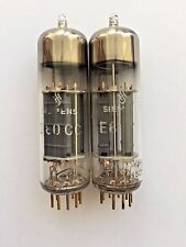 E80CC = CV5989 = 6085 Siemens Matched / Selected Pair Gold Pins NEW Same Date