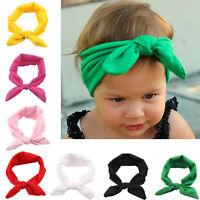 Toddler Kid Baby Girl Bunny Turban Knot Rabbit Headband Bow Hair Bands Head Wrap