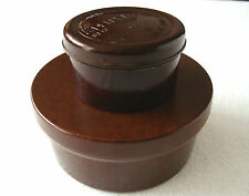 """Vintage Lot of 2 Bakelite Boxes the small one is from shoes polish cream """"Republ"""