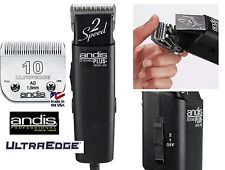 Andis AG PRO Super 2-Speed CLIPPER Set w/ULTRAEDGE 10 BLADE Pet Dog Cat Grooming