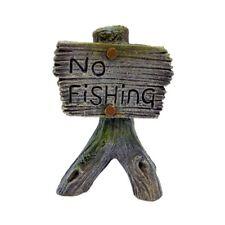 Betta No Fishing Sign Aquarium Ornament