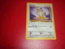 ☆Pokemon Trading Game Card☆Meowth (56/64) Basic Pokemon 50 HP 1998☆