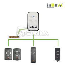 Telecomando universale compatibile HORMANN HS HSE HSM 40 mhz tasti grigi
