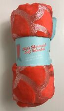 "GERTEX, Kids Mermaid Soft Blanket, 22""x54"" Machine washable, Red and Turquoise"