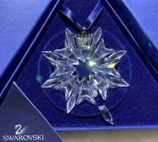 New Other- Broken Tip 2003 Large Swarovski Snowflake Ornament W/Orig. Pkging/Coa