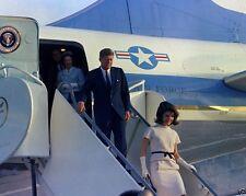 President John Kennedy and Jackie arrive in Houston Texas New 8x10 Photo