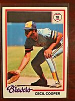 1978 TOPPS CECIL COOPER MILWAUKEE BREWERS CARD # 154