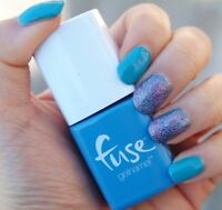 SensatioNail FUSE Gelnamel SONIC BLUE-M Bright Blue LED Gel Nail Polish 71918