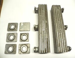 VINTAGE FORD JOHNSON V8-60 WOOD BOAT ALUMINUM EXHAUST MANIFOLDS, W/EXTRA PARTS