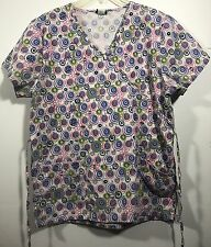 Denice Women's Nurse Scrub Top Size M Medium Pre-owned-D205