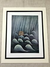1960 Jewish Art Rare Limited Edition Lithograph Print Judaica Noah's Ark