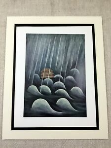 1960 Jewish Art Rare Limited Edition Lithograph Print Judaica Noah's Ark