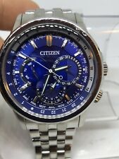 Citizen Eco Drive Mens Bu2021-51L Stainless Blue Dial Analog Watch #9