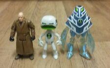 Ben 10 figures bundle VICTOR validus, ECHO ECHO & AMPFIBIAN joblots toys