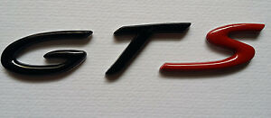 NEW Black Red ABS GTS BADGE Emblem Sticker Panamera Macan Cayman 911 PORSCHE