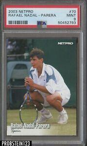 2003 Netpro Tennis #70 Rafael Nadal-Parera RC Rookie PSA 9 MINT