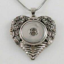 Fits Ginger Snap Ginger Snaps Pendant Angel Wings Necklace Magnolia 18mm Button