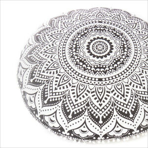 """32"""" Floor Pillow Cushion Seating Cover Mandala Throw Round Colorful Decorative B"""