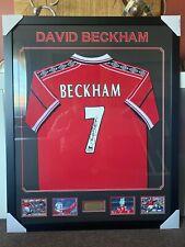 DAVID BECKHAM PERSONALLY SIGNED 1998/99 MANCHESTER UNITED FOOTBALL CLUB JERSEY