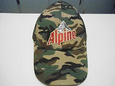 Alpine Lager Beer Hunters Cap Hat One Size Fits All Adjustable Green Blk Beize