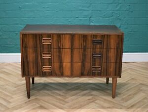 Mid Century Retro Danish Six Drawer Rosewood Low Chest Sideboard TV Stand 1970s