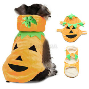 Lovely Halloween Pumpkin Pet Puppy Dog Cat Clothes Hoodie Coat Costumes