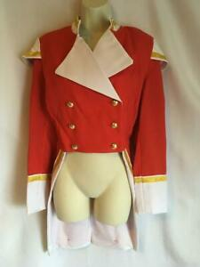 Military Jacket Tailcoat Red / white Toy Soldier Tin Officer Size XXL 20 - 22