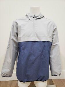 Adidas Golf Men's Adicross Anorak DZ0654 GrayTwoHeather/DarkBlueHeather Size L