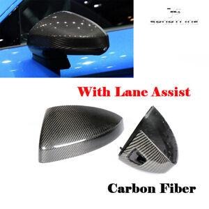 Carbon Fiber Replacement Mirror Covers Cap With Lane Assist for Audi TT TTS TTRS