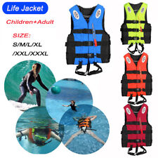 Adult Kids Swimming Life Jacket Vest Safety Kayak Ski Buoyancy Aid Water Sports