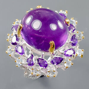 Jewelry Handmade Amethyst Ring Silver 925 Sterling  Size 9.5 /R166825