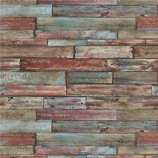 Erismann Tapete - Alt Verwitter Holzplatten / Planken - Bunt - 7319-06