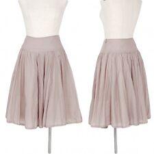 Jocomomola Silk blends gather switching skirt Size 42(K-32806)