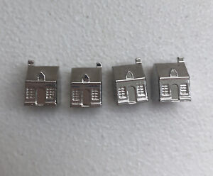 Franklin Mint Monopoly 1991 Collectors Edition 4 Silver Plated Houses