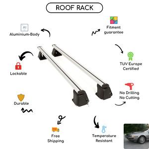 Bare Roof Rack Cross Bars Set for Nissan 200SX 3-Door Hatchback 1984 - 1988