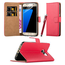 Samsung Galaxy S7 Case Wallet Leather Flip Book Card Slots Stand View Case Cover