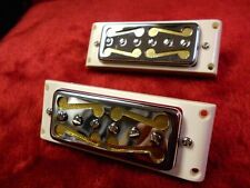 GOLD FOIL MOUSTACHE PICKUP PAIR FOR TEISCO HARMONY KAY SILVERTONE DEARMOND