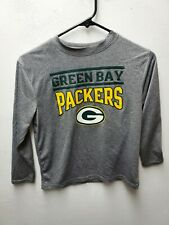 Green Bay Packers Child Long Sleeve Shirt No Wear Gray