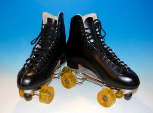 VTG Riedell Classic Roller Skates Sure-Grip Plates Powell Bones Elite Wheels