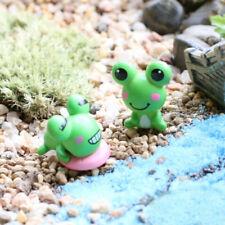 2Pcs Lovely Miniature Mini Frog Diy Fairy Home Garden Craft Dollhouse DecorT0