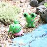 2Pcs schöne Miniatur Mini Frosch Diy Fairy Hausgarten Handwerk Dollhouse Deco sg
