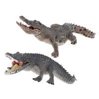2pcs Animal Figurine Wild Woodland Coccodrillo Figura Modello Kid Giocattolo