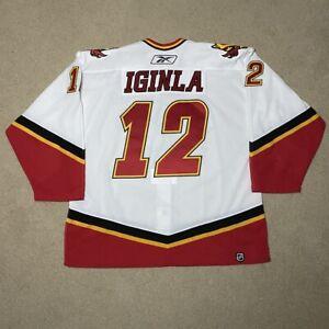 Jarome Iginla Calgary Flames Pro Reebok 6100 Hockey Jersey NHL White 56 05-07